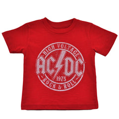 ACDC - High Voltage Toddler Tee, Heather Red - The Giant Peach