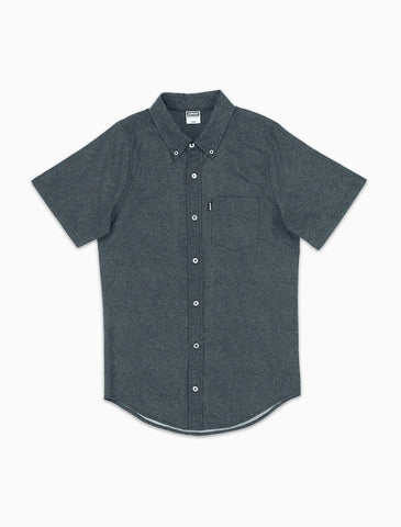Acrylick - Cole S/S Button Down Men's Shirt, Navy
