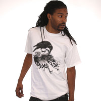 Aesop Rock - Crow Men's Shirt, White - The Giant Peach