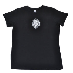 Aesop Rock - Letter A Women's Boy Cut Shirt, Black - The Giant Peach
