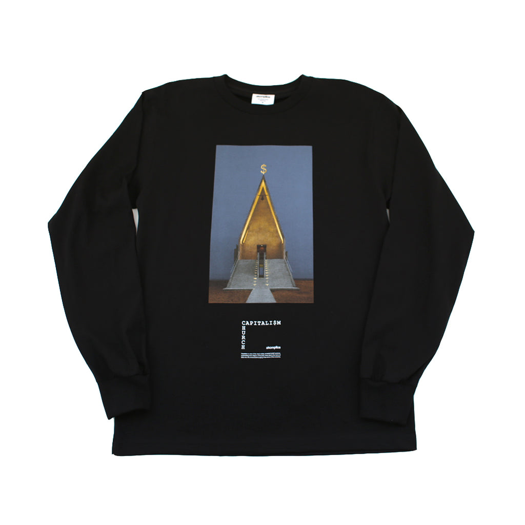 Akomplice - Capitalism/Religion Men's L/S Tee, Black