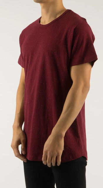 Akomplice - Epple Men's Basic Tee, Maroon/White - The Giant Peach