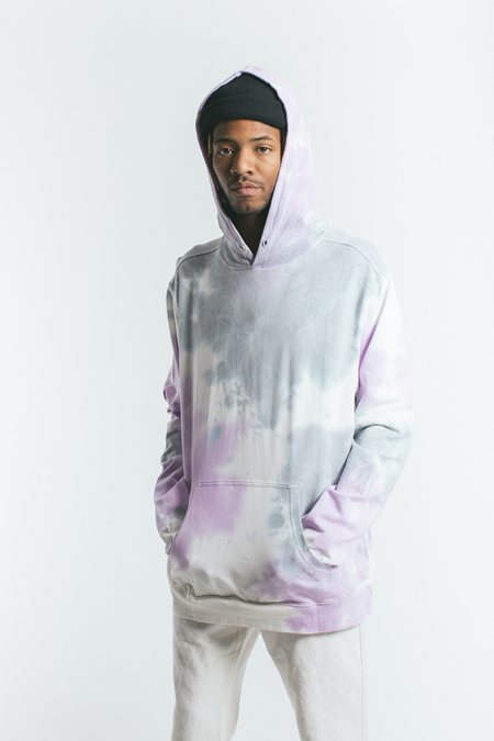 Akomplice - Lav Hooded Men's Sweatshirt, White/Lavender