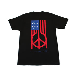 Akomplice - US Peace Men's Tee, Black/Red/Blue