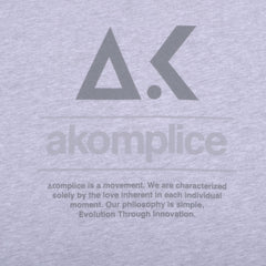 Akomplice - EVO Logo  Men's Tee, Athletic Heather - The Giant Peach