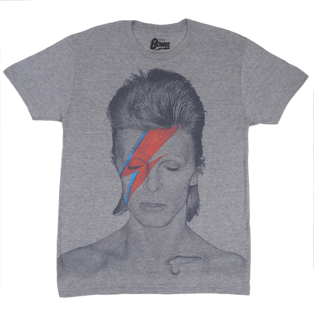 David Bowie -  Aladdin Sane Men's Shirt, Heather Triblend - The Giant Peach