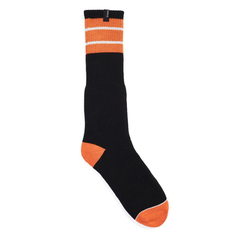 Brixton - Alameda Men's Socks, Black/Orange