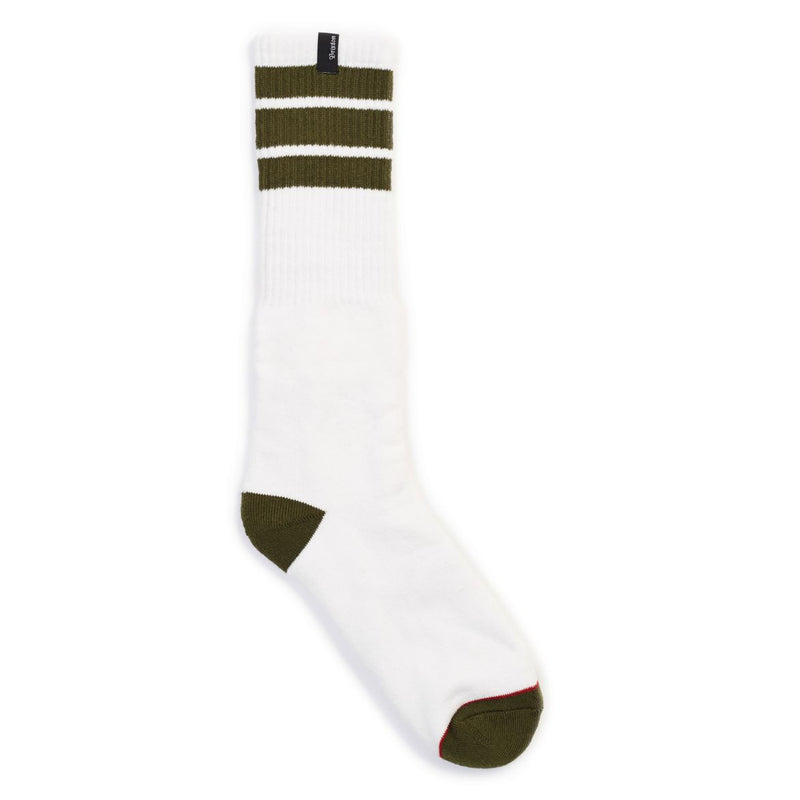 Brixton - Alameda Men's Socks, White/Olive