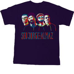 Seu Jorge - Portraits Men's Shirt, Navy - The Giant Peach - 1