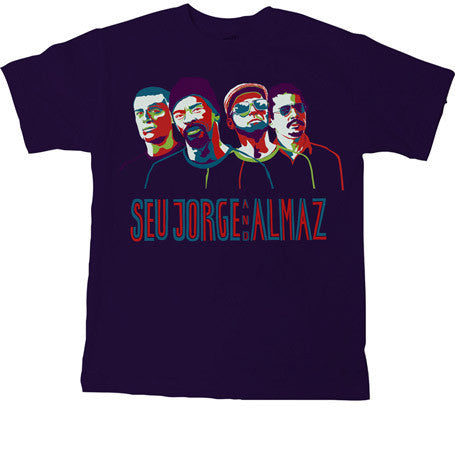 Seu Jorge - Portraits Men's Shirt, Navy - The Giant Peach - 2