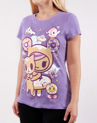 tokidoki - Always Twirling Women's Tee, Lavender - The Giant Peach - 3