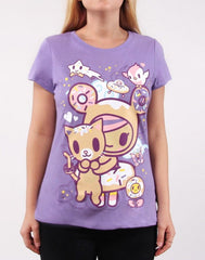 tokidoki - Always Twirling Women's Tee, Lavender - The Giant Peach - 1