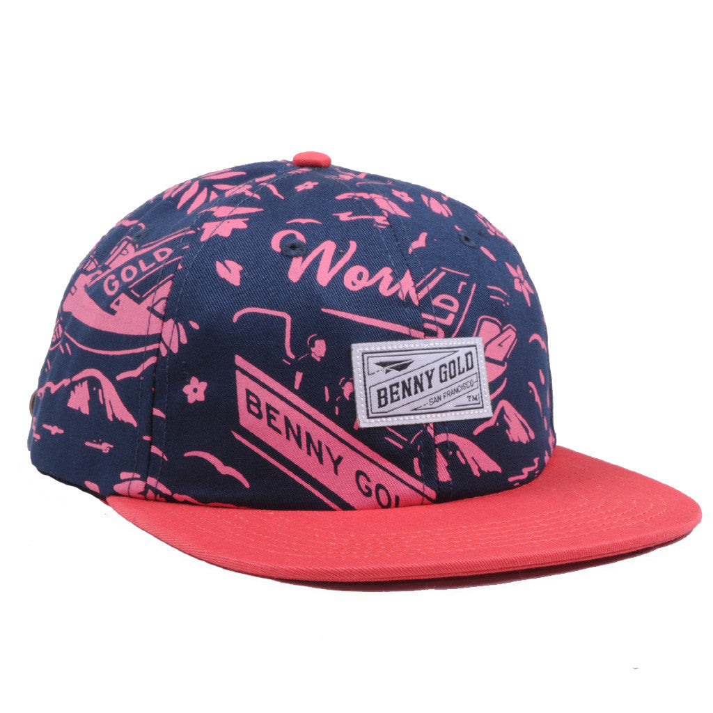 Benny Gold - Anchored Snapback, Navy - The Giant Peach - 1