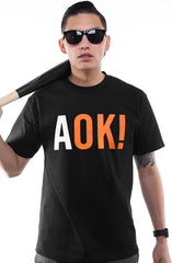 Adapt - AOK! Men's Tee,  Black - The Giant Peach - 1