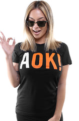 Adapt - AOK! Women's Tee, Black - The Giant Peach - 1