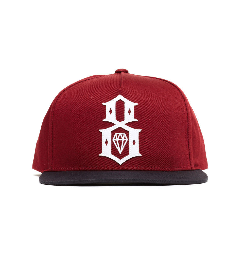 REBEL8 - Applic8 Snapback Hat, Burgundy - The Giant Peach - 1