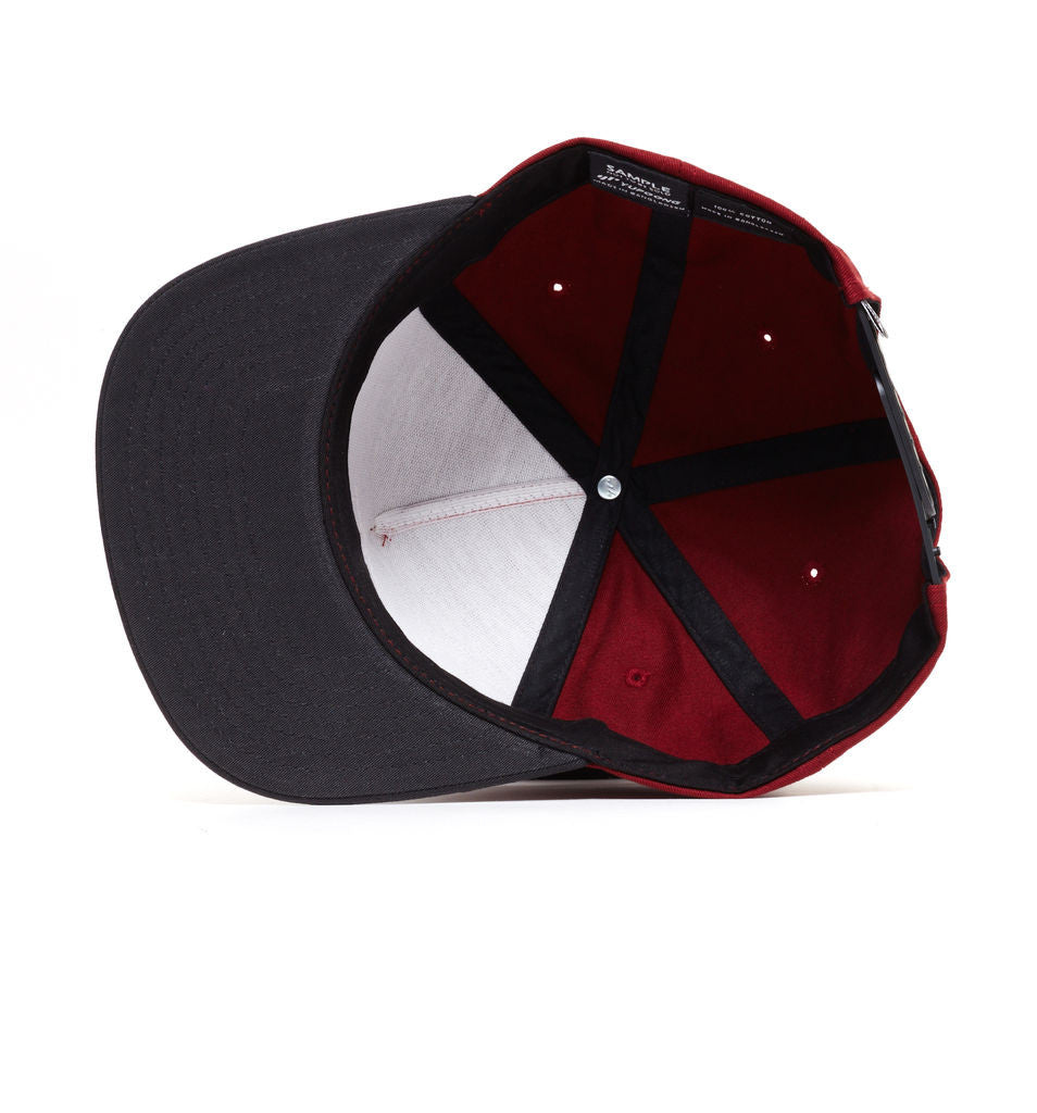 REBEL8 - Applic8 Snapback Hat, Burgundy - The Giant Peach - 2