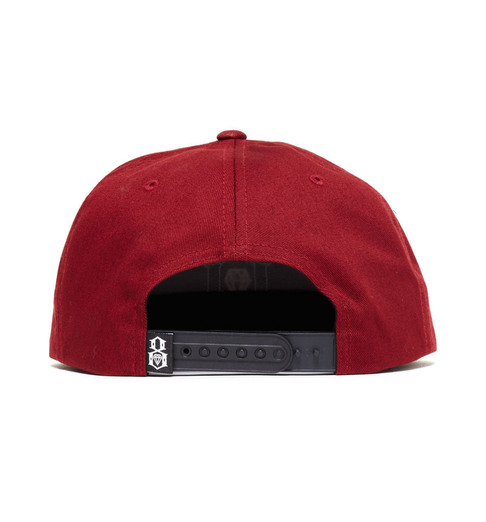 REBEL8 - Applic8 Snapback Hat, Burgundy - The Giant Peach