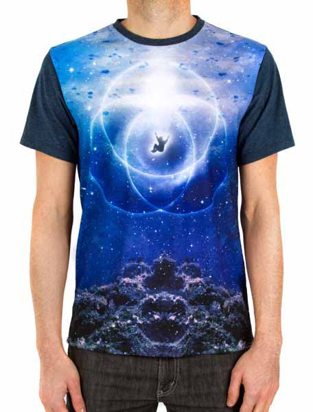 Imaginary Foundation - Aquatic Symbol Men's Panel Tee, Blue - The Giant Peach