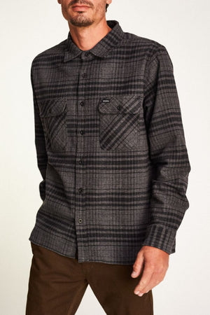 Brixton - Archie Men's L/S Flannel Shirt, Black/Heather Charcoal