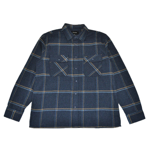 Brixton - Archie Men's L/S Flannel Shirt, Navy