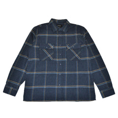 Brixton - Archie Men's L/S Flannel Shirt, Navy - The Giant Peach