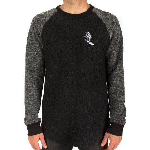 Imaginary Foundation - Astrosurfer Crewneck Sweatshirt, Black - The Giant Peach - 1