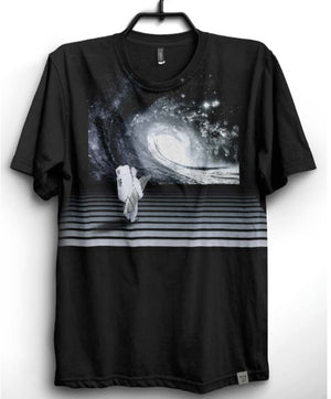 Imaginary Foundation - Astro Wave Men's Shirt, Black - The Giant Peach