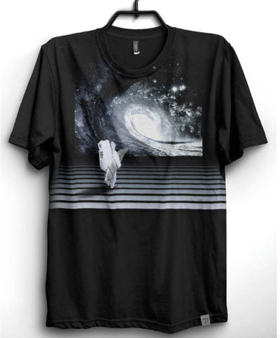 Imaginary Foundation - Astro Wave Men's Shirt, Black