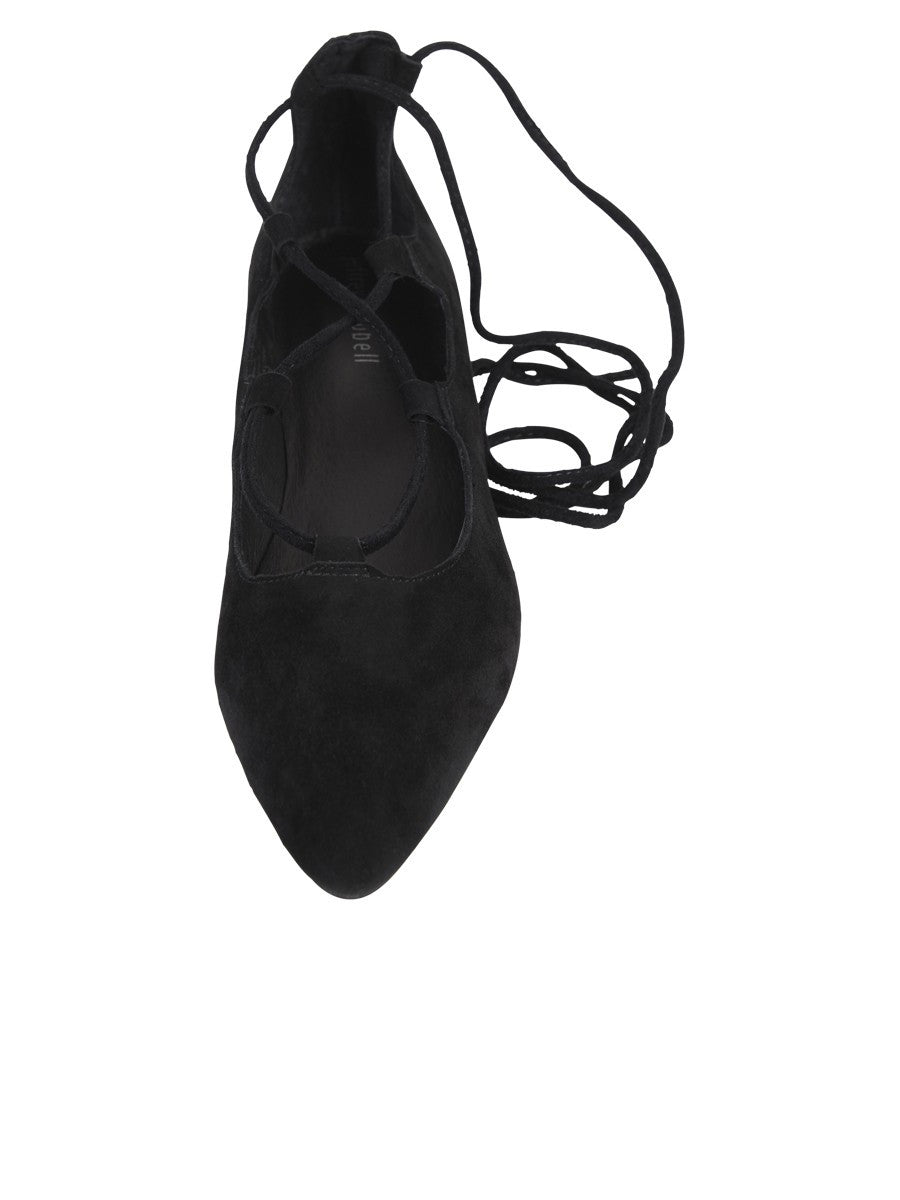 Jeffrey Campbell - Atsuko Suede Flats, Black - The Giant Peach - 2