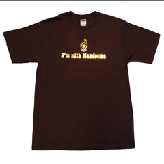 Handsome Boy Modeling School - I'm With Handsome Men's Shirt, Brown - The Giant Peach