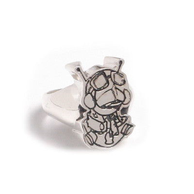 Han Cholo for Dez Einswell - Aviator Ring, Silver