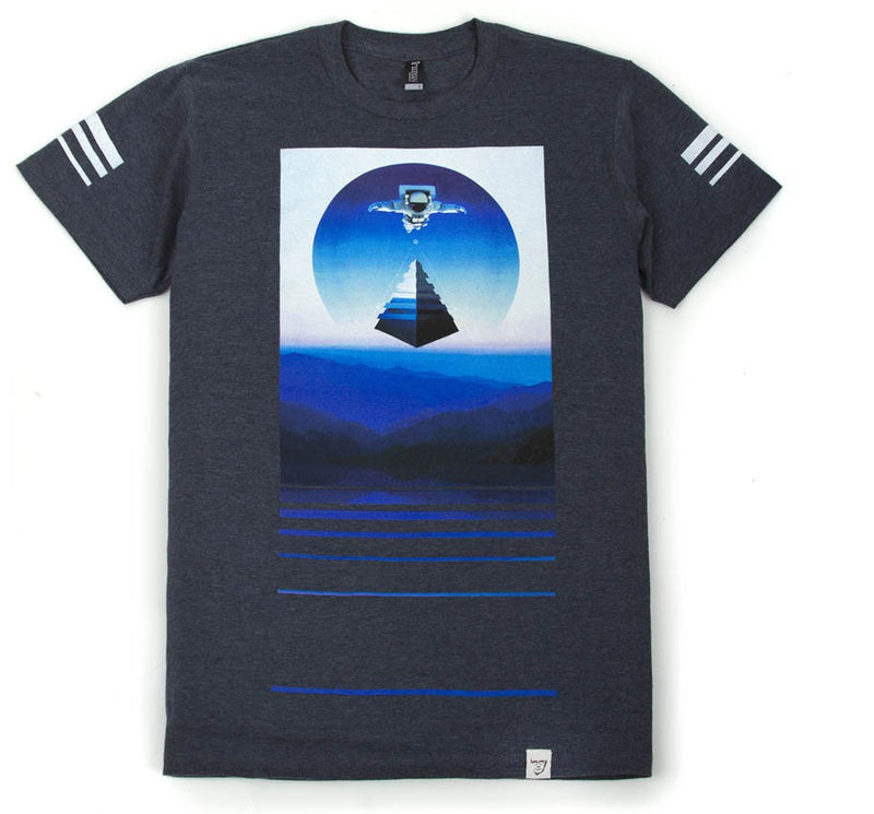 Imaginary Foundation - Azimuth Men's Shirt, Navy Heather - The Giant Peach