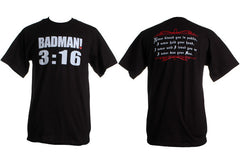 Murs - Badman 3:16 Men's Shirt, Black - The Giant Peach