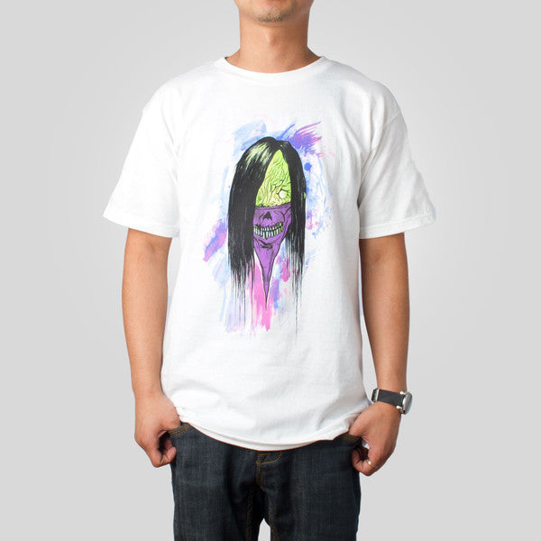 Upper Playground - Alex Pardee Bandit Men's Shirt, White - The Giant Peach