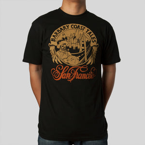SuperFishal (Jeremy Fish) - Barbary Coast Men's Shirt, Black - The Giant Peach