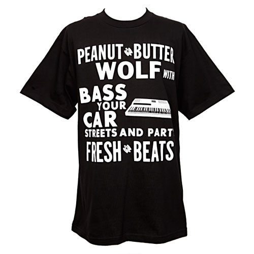 Peanut Butter Wolf - Bass Your Car Men's Shirt, Black - The Giant Peach