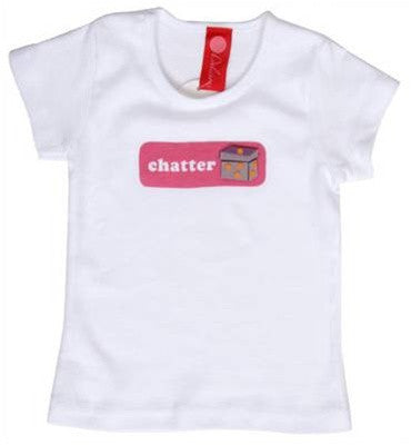 b.delicious - Chatter Box Toddler Tee, White - The Giant Peach