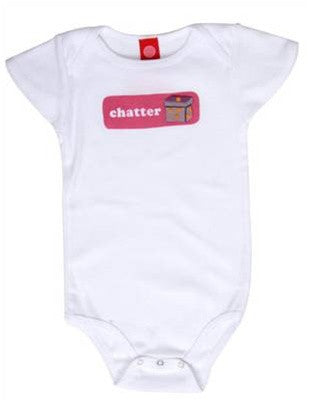 b.delicious - Chatter Box Infant One Piece, White - The Giant Peach