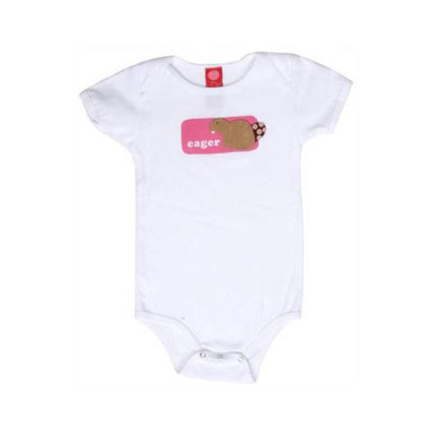 b.delicious - Eager Beaver Infant One Piece, White