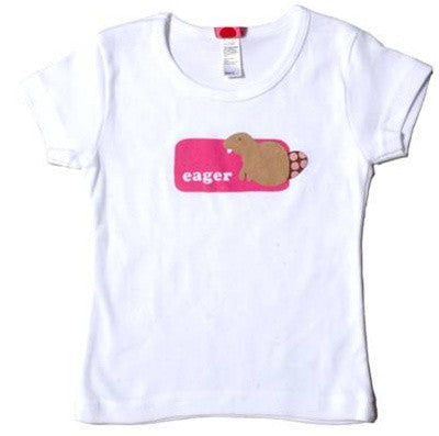 b.delicious - Eager Beaver Toddler Tee, White - The Giant Peach