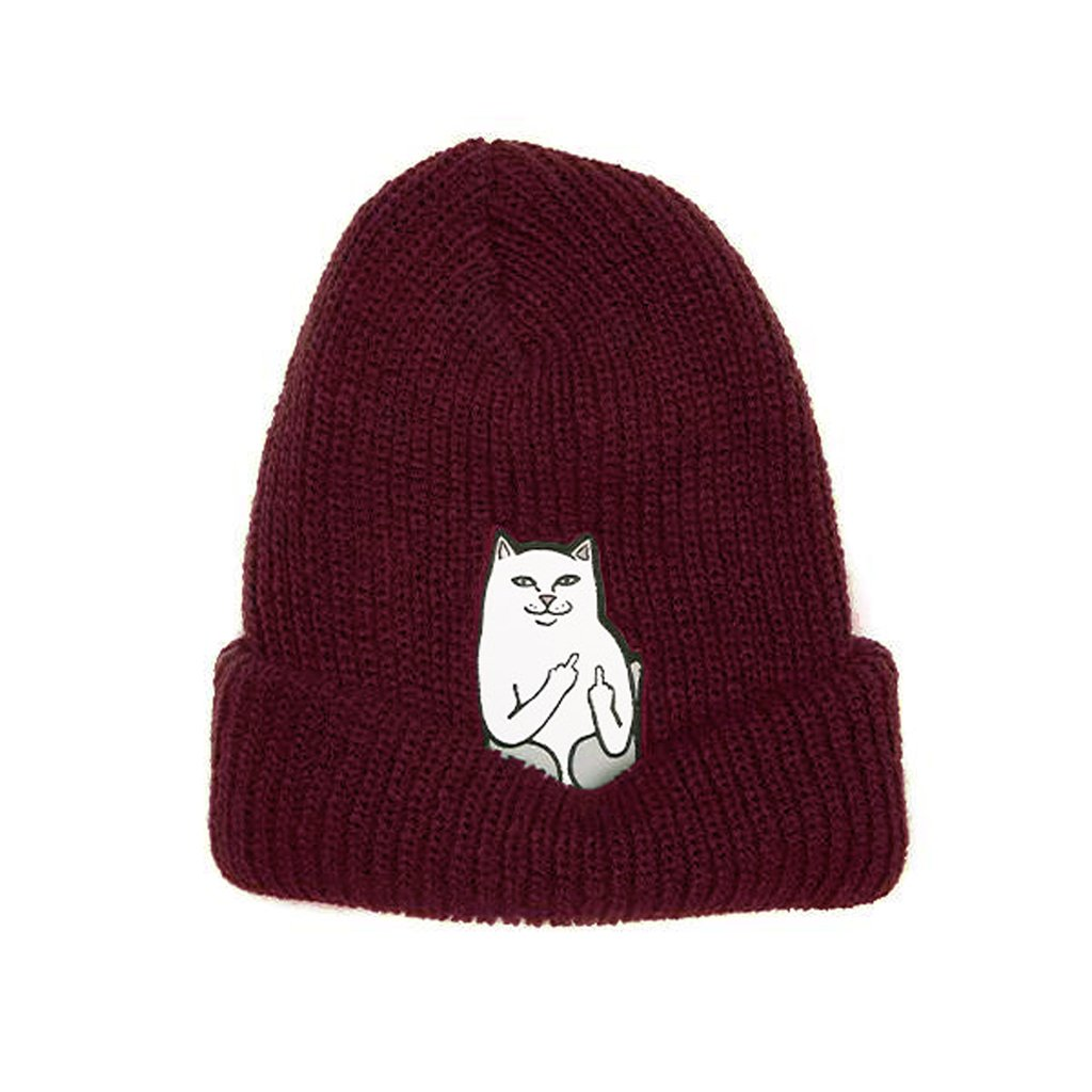 RIPNDIP - Lord Nermal Men's Ribbed Beanie, Burgundy
