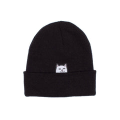RIPNDIP - Lord Nermal Men's Beanie, Black Slub - The Giant Peach