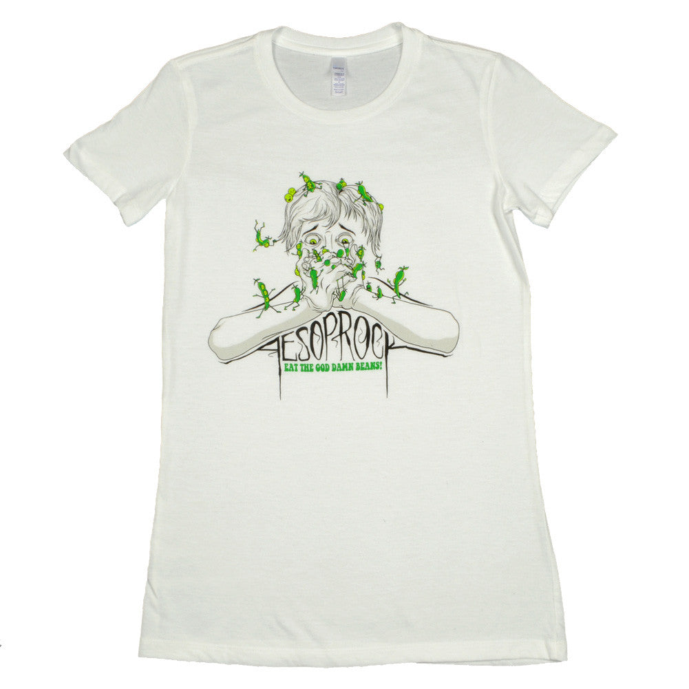 Aesop Rock - Beans Women's Shirt, White - The Giant Peach - 1