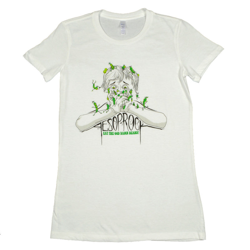 Aesop Rock - Beans Women's Shirt, White - The Giant Peach