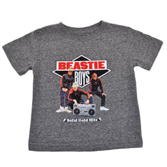 Beastie Boys - Solid Gold Hits Toddler Tee, Heather Grey - The Giant Peach