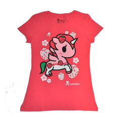 tokidoki - Berry Cute Women's Tee, Red - The Giant Peach - 1