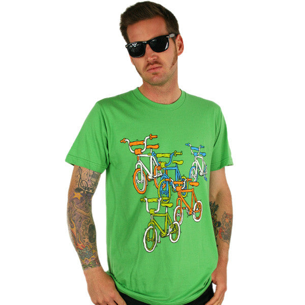 Oaklandish - BMX Men's Shirt, Green - The Giant Peach