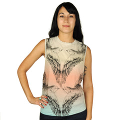 Trends -  Birds Reflect Women's Tank Top, Cream/Red - The Giant Peach - 1