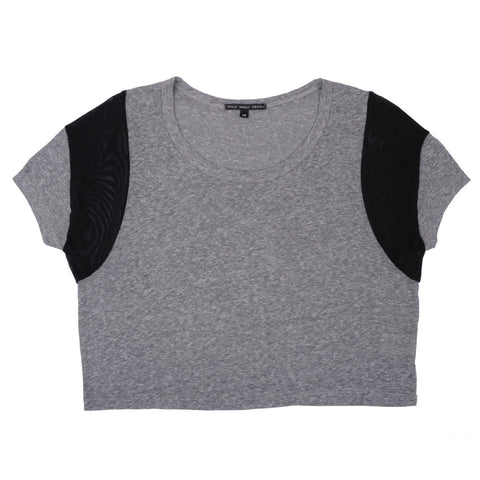Trends -  Borderline Crop Top, Grey/Black